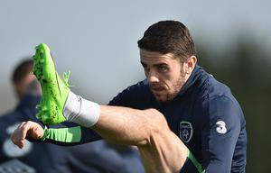Leinster , Ireland - 27 March 2017; Robbie Brady during Republic of Ireland Squad Training at FAI National Training Centre, in Abbotstown, Co. Dublin. (Photo By David Maher/Sportsfile via Getty Images)