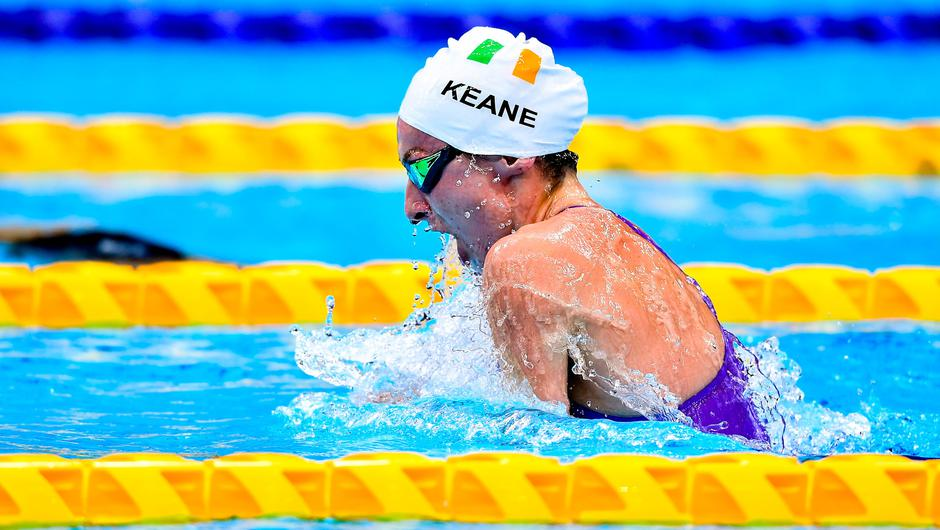 Ellen Keane on her way to winning the Women's SB8 100 metre breaststroke final at the Tokyo Aquatic Centre on day two of the 2020 Paralympic Games. Photo: Sam Barnes/Sportsfile