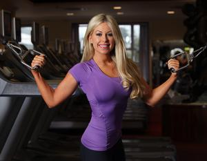27/2/2013; model, Tiffany Stanley works out in Citywest health and leisure Gym. Picture credit; Damien Eagers