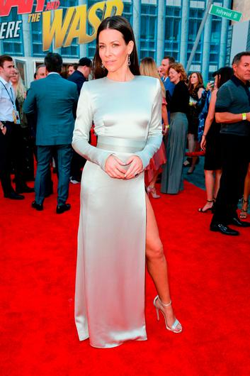Evangeline Lilly attends the premiere of Disney And Marvel's 'Ant-Man And The Wasp' on June 25, 2018 in Hollywood, California.  (Photo by Rich Fury/Getty Images)