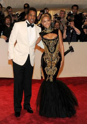 "Jay-Z and singer Beyonce attend the ""Alexander McQueen: Savage Beauty"" Costume Institute Gala at The Metropolitan Museum of Art on May 2, 2011"