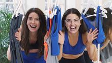 Making a difference: Lauren Oliver (right) who launched sustainable leisurewear brand Olly Olly & Co in March, with her twin sister, Emma
