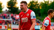 Kevin Toner of St Patrick's Athletic was on target at the Belfield Bowl. Photo by David Fitzgerald/Sportsfile