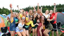 31 Aug 2018;  Girls from Drogheda on first day of Electric Picnic festival. Stradbally, Co. Laois. Picture: Caroline Quinn