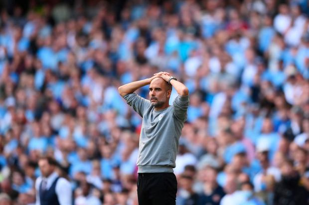 Man City manager Pep Guardiola. (Photo by Laurence Griffiths/Getty Images)