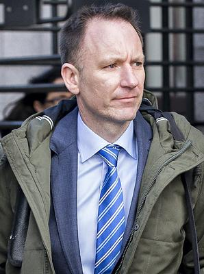 Chris Counihan, a senior environmental health officer with the HSE, leaving the court  after he gave evidence in a prosecution in which well known public house, Quinn's of Drumcondra, was convicted and fined €1,750. PIC: COURTPIX