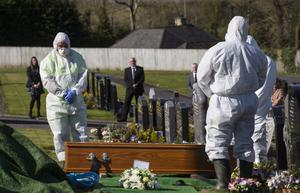 Lawrence Mc Manus' funeral took place in Co Fermanagh on Easter Saturday. Photo: John McVitty