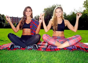 Top models and fitness fanatics, Sarah Morrissey and Lynn Kelly are pictured in Fitzwilliam Square Park to kick off VisitScotland's health and wellness campaign
