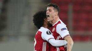Arsenal struck late to advance to the last 16 of the Europa League. REUTERS/Alkis Konstantinidis
