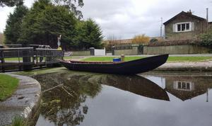 Paddle along the leafy Boyne Canal in a traditional Irish currach
