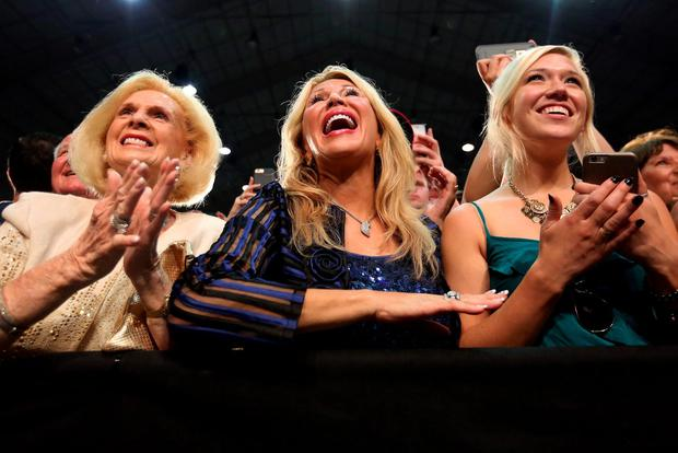 Supporters of Republican presidential nominee Donald Trump cheer as he walks onstage at a campaign event in Winston-Salem, North Carolina. The campaign has redefined the limits for the bizarre and the unexpected. Photo: Reuters