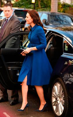 The Duchess of Cambridge arrives for a visit to an Early Years Parenting Unit in north London run by the Anna Freud National Centre for Children and Families, to learn more about its work with families who have children under five years old. PRESS ASSOCIATION Photo. Picture date: Wednesday January 11, 2017. See PA story ROYAL Cambridges. Photo credit should read: Victoria Jones/PA Wire
