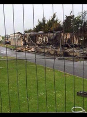 Fire at Castleknock Community College