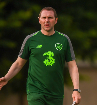 Republic of Ireland U-19 head coach Tom Mohan