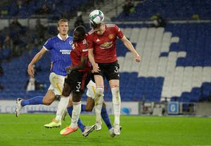 Manchester United's Scott McTominay scores his side's first goal of the game. Photo: Matt Dunham/NMC Pool/PA Wire