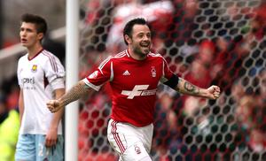 Nottingham Forest's Andy Reid celebrates scoring their fifth goal during the FA Cup Third Round match at the City Ground, Nottingham. Photo: PA.