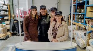 'Katarina Tothova, Marie-Aude Danguy, Brona Galvin and Niamh Doyle from Triskell Seafood'