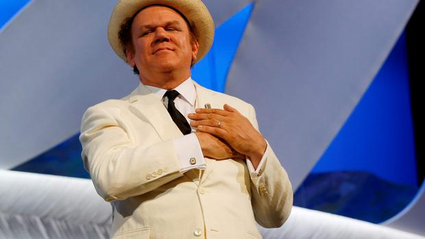 US actor John C. Reilly listens to the audience singing Happy Birthday to him during the closing ceremony of the 68th Cannes Film Festival in Cannes, southeastern France, on May 24, 2015.     AFP PHOTO / VALERY HACHE        (Photo credit should read VALERY HACHE/AFP/Getty Images)