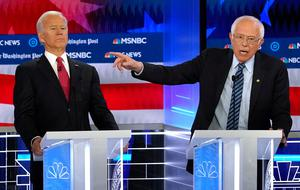 Battle for nomination: Joe Biden had gained the momentum over Senator Bernie Sanders, who has now pulled out. Photo: REUTERS