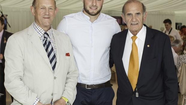 Feidlim & Colm McLoughlin with Robbie Henshaw pictured at the 150th Dubai Duty Free Irish Derby at the Curragh Racecourse on Saturday 27th June. Photo Anthony Woods.