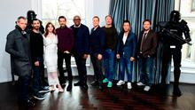 The cast of 'Rogue One' gather to promote the movie in London yesterday. Photo: Ian West/PA Wire