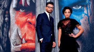 """Actors Dominic Cooper and Ruth Negga attend the premiere of Universal Pictures' """"Warcraft"""" at TCL Chinese Theatre IMAX on June 6, 2016 in Hollywood, California.  (Photo by Mike Windle/Getty Images)"""