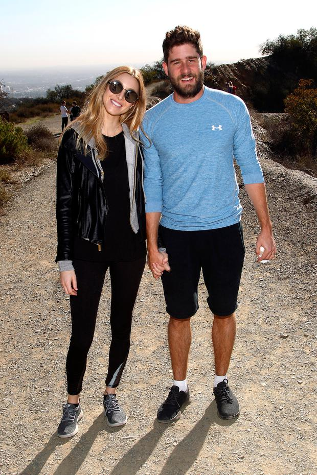 TV Personality Whitney Port and Tim Rosenman Hike with Allbirds and Friends on December 3, 2016 in Los Angeles, California. (Photo by Tommaso Boddi/Getty Images for Allbirds)