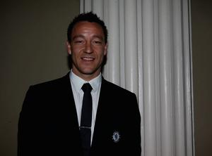 John Terry of Chelsea during the Champions League Trophy handover ceremony