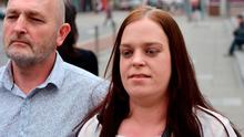 Tara Byrd pictured with her father Willie Byrd at Cork Circuit criminal court. Pic Cork Courts Limited