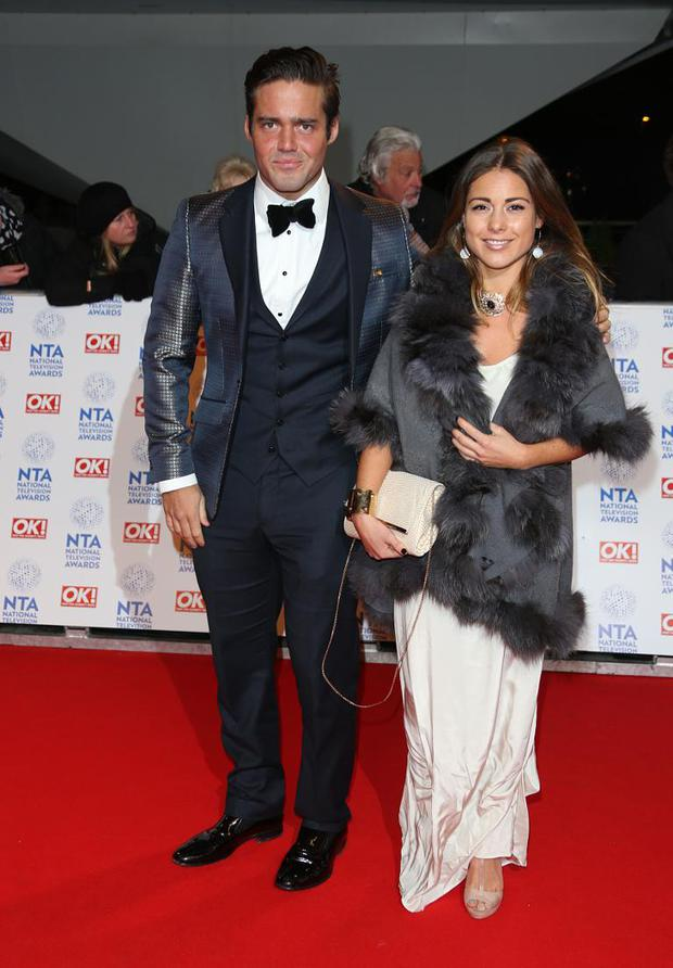 Spencer Matthews and Louise Thompson at the National Television Awards (NTA's) 2013