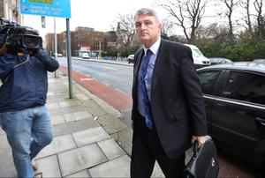 Simon O'Brien from the Office of the Garda Ombudsman arriving for a meeting with the Minister for Justice at the Department of Justice yesterday