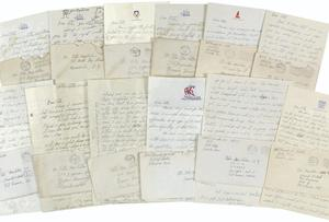 The Kennedy letters - group shot of the collection