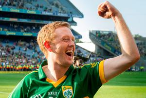 Colm Cooper celebrates on the Croke Park pitch. Picture credit: David Maher / SPORTSFILE