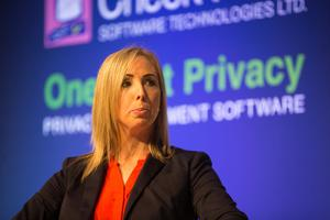 Data Commissioner Helen Dixon at the Secure Computing Forum 2019. Photo: Mark Condren