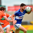 Brendan Quigley of Laois in action against Charlie Vernon of Armagh. Photo by Matt Browne/Sportsfile