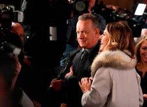 Actors Tom Hanks and Rita Wilson attend the 2018 National Board of Review Awards Gala at Cipriani 42nd Street on January 9, 2018 in New York City. / AFP PHOTO / ANGELA WEISSANGELA WEISS/AFP/Getty Images
