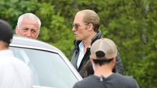 BOSTON, MA - JUNE 09: Johnny Depp is seen on set of 'Black Mass' on June 09, 2014 in Boston, Massachusetts.  (Photo by Stickman/Bauer-Griffin/GC Images)