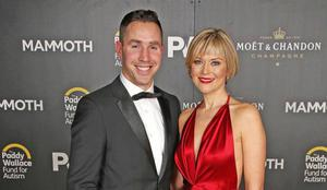 Former Ulster star Paddy Wallace with wife Tina