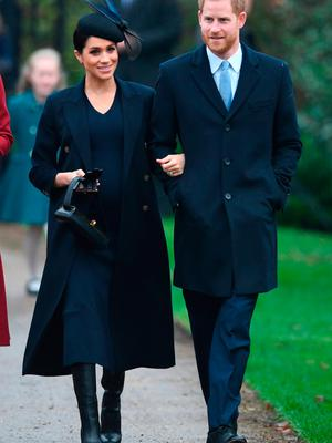 The Duke and Duchess of Sussex arriving to attend the Christmas Day morning church service at St Mary Magdalene Church in Sandringham, Norfolk. PRESS ASSOCIATION Photo. Picture date: Tuesday December 25, 2018
