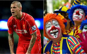 Hitting back: Liverpool posted a picture of clowns after FA ban him for three games