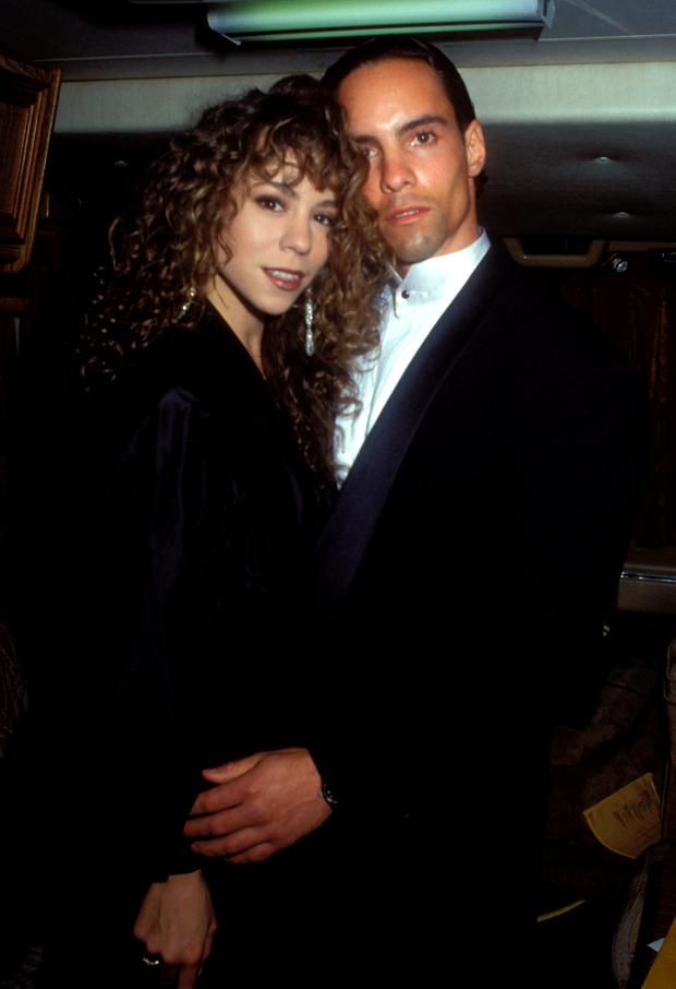 Mariah Carey and brother Morgan Carey (Photo by Barry King/WireImage)