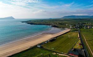 An aerial view of Gallaras, the home ground of An Ghaeltacht in Murreagh, Kerry. Photo: Sportsfile