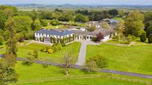 An aerial view of the palatial Kilfrush Stud