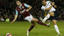 Tottenham Hotspur's Nacer Chadli shoots to score against Burnley during their FA Cup third round match at Turf Moor. REUTERS/Andrew Yates