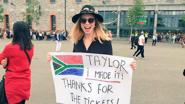 Stephanie made it to the 3Arena thanks to Taylor Swift