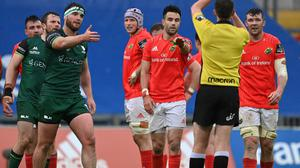 Munster captain Peter O'Mahony, right, team-mate Conor Murray