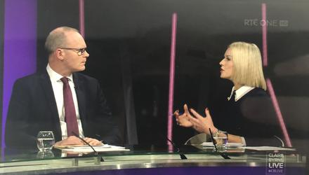 Claire Byrne and Simon Coveney