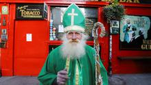 Pub closures: St Patrick's Day would usually see the largest public gatherings of the year, but coronavirus has put paid to that. Photo: REUTERS/Lorraine O'Sullivan