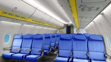 An artist's impression of Ryanair's new Boeing 'Sky' interiors.
