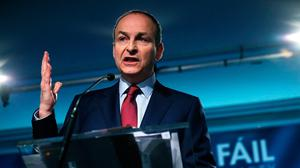 Fianna Fáil leader Micheal Martin. Photo: Brian Lawless/PA Wire...A
